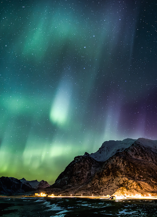 Northern Lights over the Lofoten Islands, Norway shot by Kevin Gorton