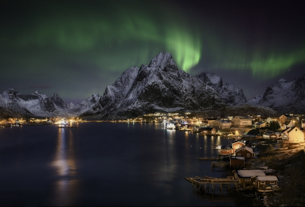 Northern Islands over Lofoten, Norway
