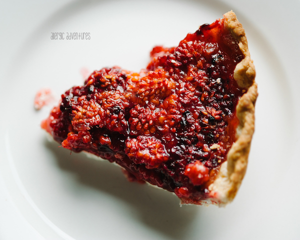 Northwest Foraged Eats; Salmonberry Pie. Photo by allergic adventures
