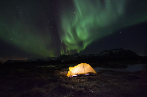 Aurora tent views. By Georg Krewenk.