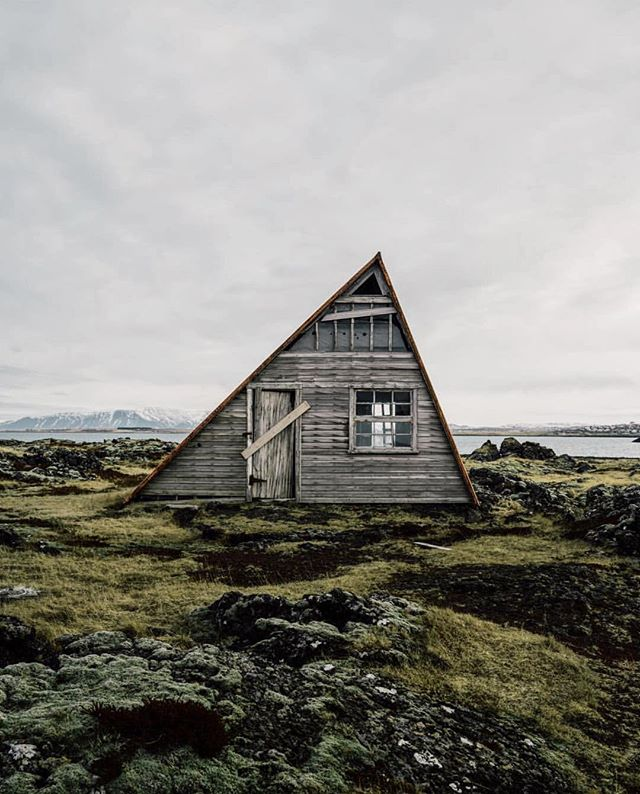 If all else fails, buy a fixer-upper in Iceland.  #getoutdoors #upknorth Isolated cabin living along Nordic shores. Stunning shot by @chrispoops
