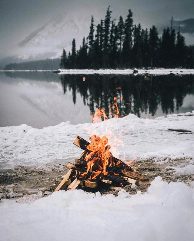 Fire is winter's fruit. - Arabian Proverb. Epic shot by @dudelum #getoutdoors #upknorth
