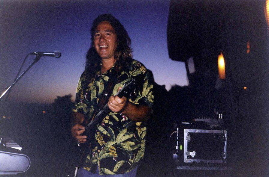 Pasquale on the bluff jamming - Image Cira 1990