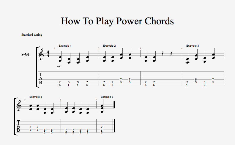 How to play power chords — Chasing Sound