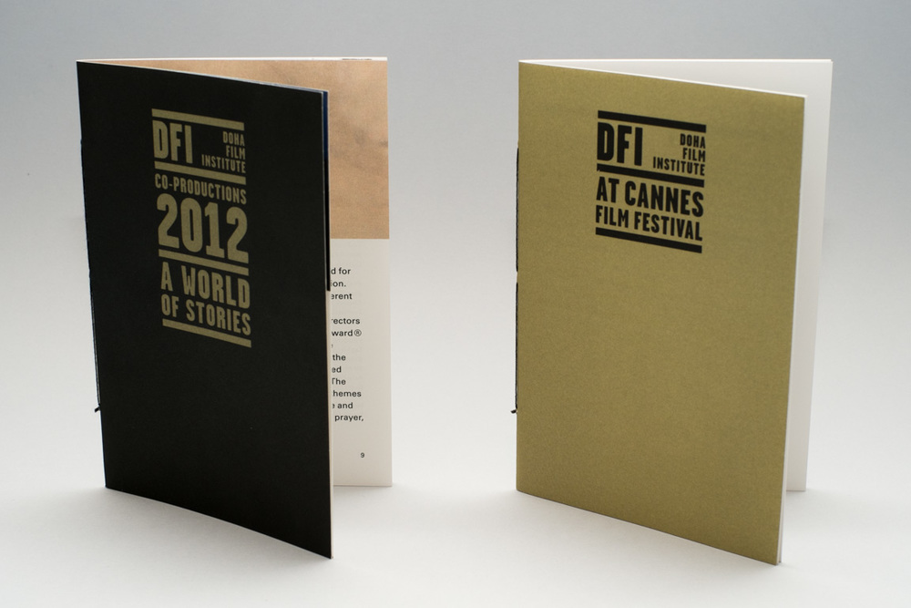 Brochures presenting the institute's activities at Cannes Film Festival, pocket size