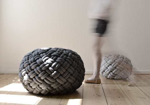 Kume Ko Design  Knotty Floor Cushion