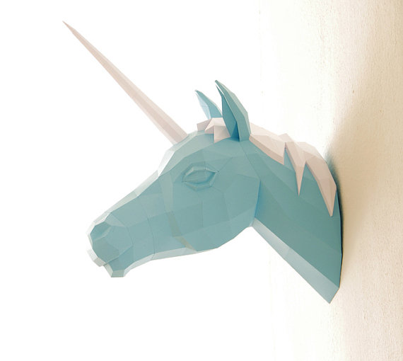 Paper Wolfs Shop  Paper Unicorn Trophy