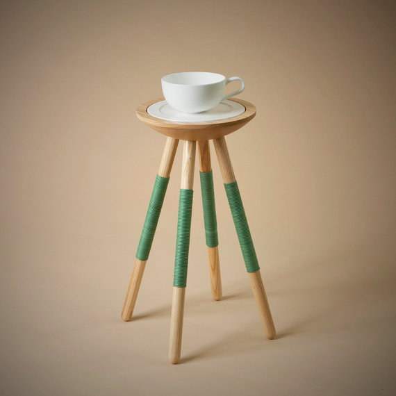 Hellodesignk  Tea for one green table.