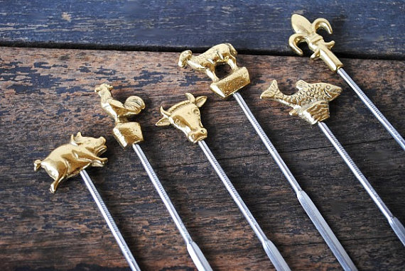 Vintage Eclecticity   Spear that meat or cheese with these stylish vintage skewers.