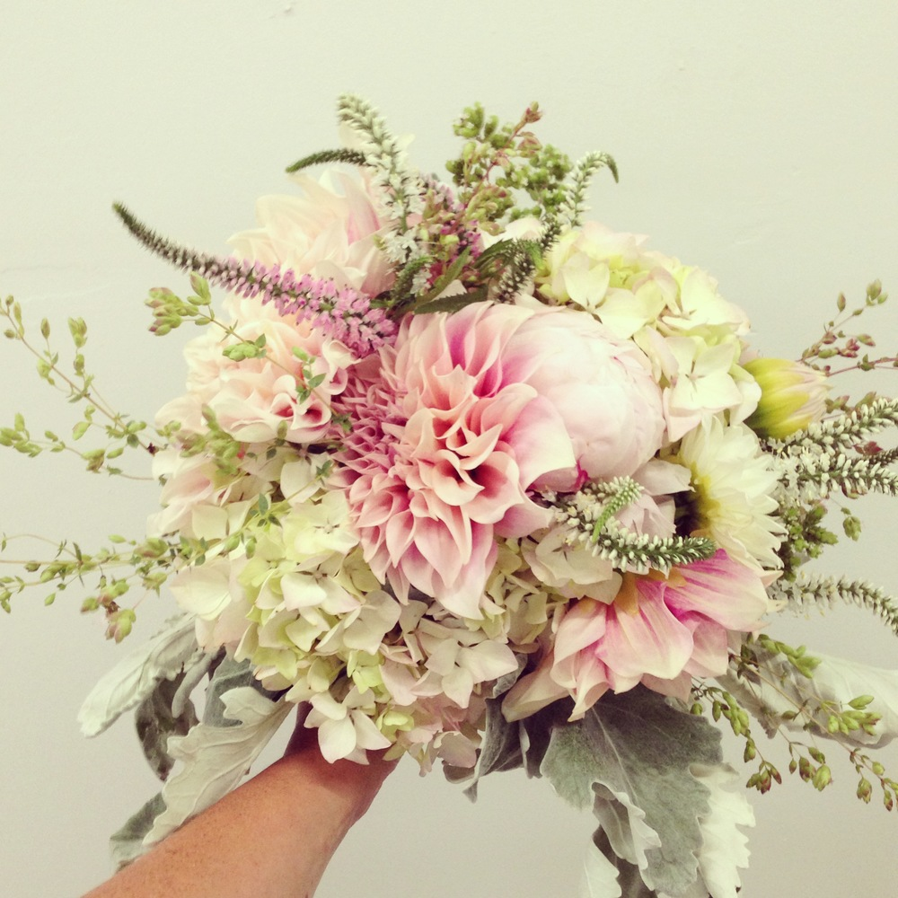 Vintage summer wedding bouquet