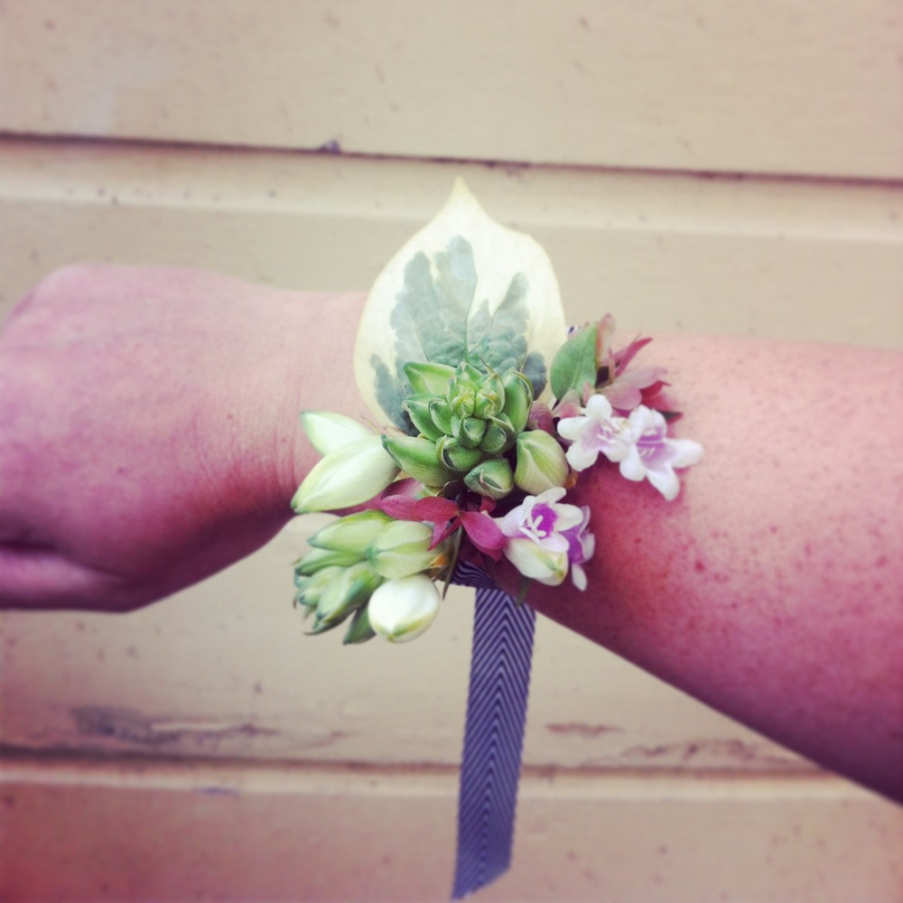 2013-05-25 Green White Flower Corsage Madeline Trait.jpg