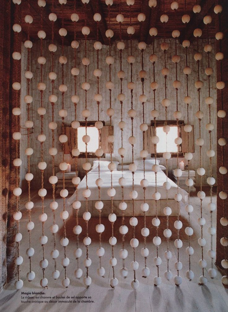 Wood Bead Curtain