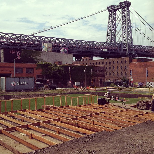 @bbbyrdd Phase 1 of new deck at #havemeyerpark in #williamsburg