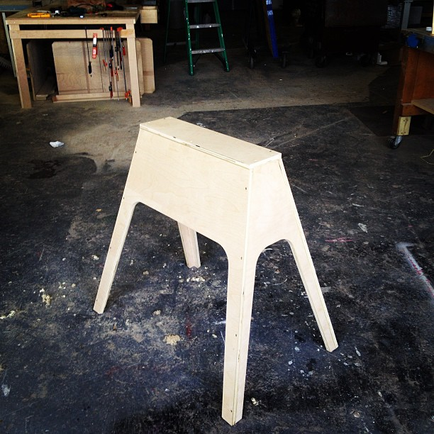Making things more complicated than they need to be. #fancy #sawhorse