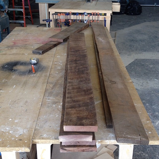 Rough lumber for custom bed. #wood