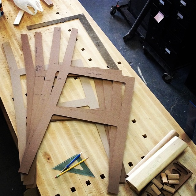 Stool templates for CNC production. #woodworking #keeptweaking