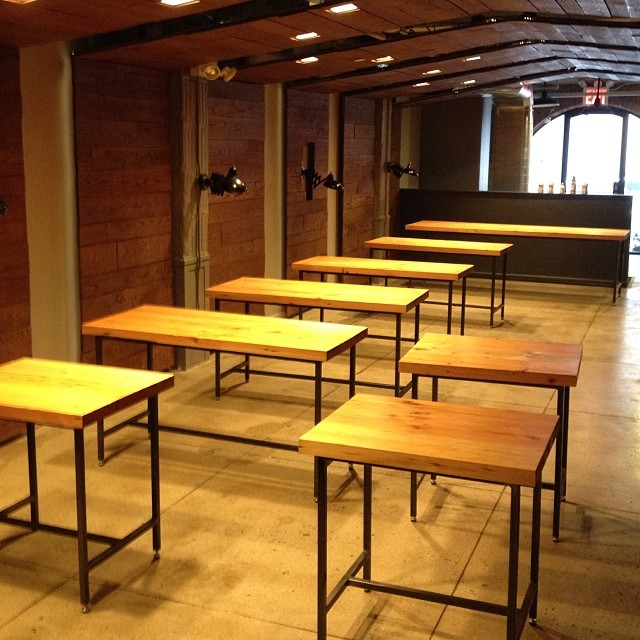Custom tables design and fabricated by Stokes. #woodworking in the big city