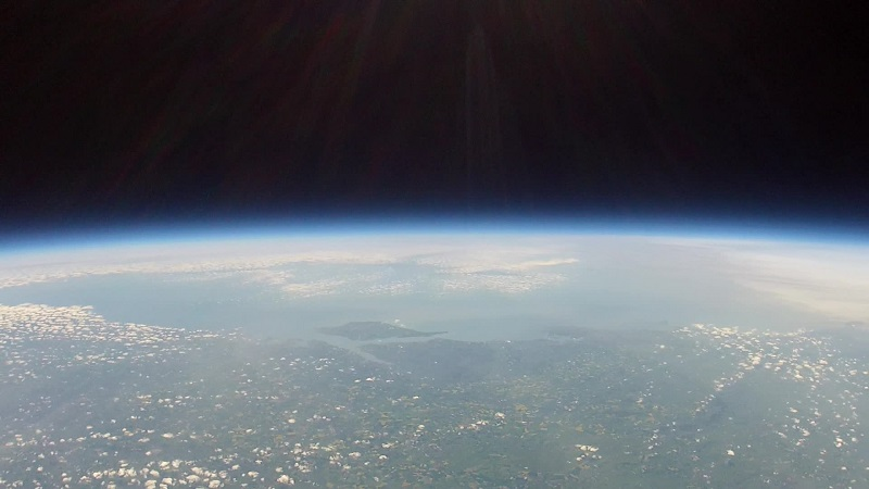 Isle of Wight from Near Space (source: Queen Mary's Grammar School)