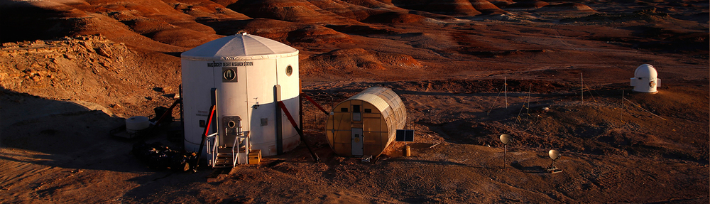 Located in the deserts of Utah, the Mars Desert Research Station is the venue for the annual University Rover Challenge. (Credit: Mars Society)