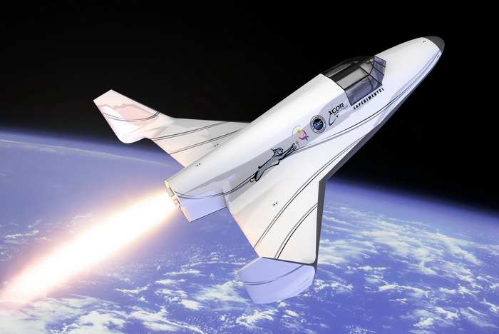 Rendering of XCor Aerospace's Lynx suborbital rocket plane. (Credit: XCor Aerospace, Inc.)