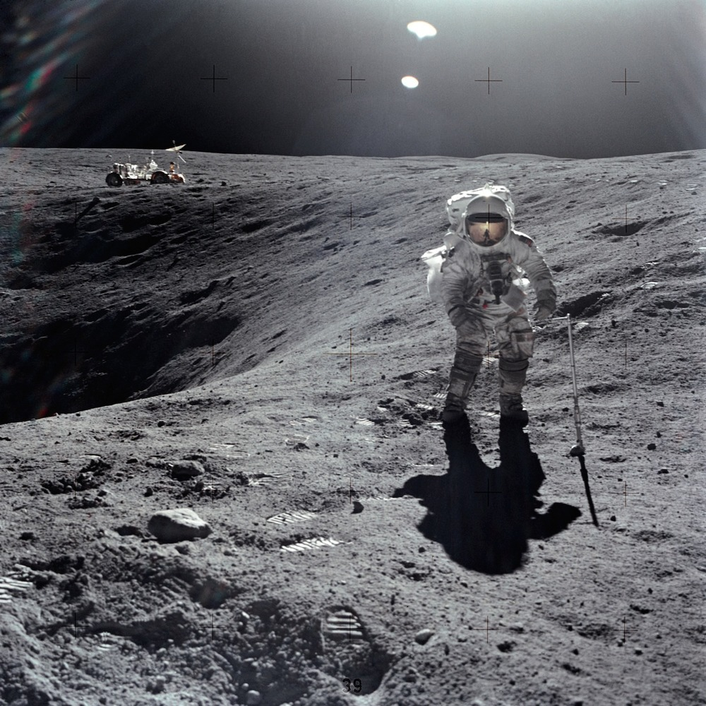 South Carolina astronaut Charles Duke on the Moon during the Apollo 16 mission. (My favorite - the Apollo 16 Command Module was the  Casper )   Source:  Nasa