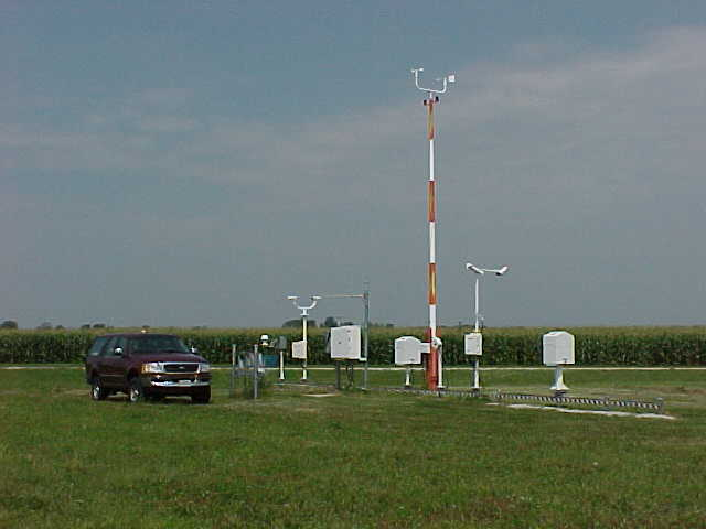 Noaa's weather stations are a little big for your back yard.... Source: Noaa