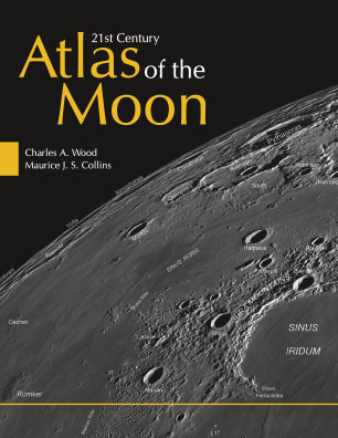 21st Century Atlas of the Moon  is uniquely designed for the backyard, amateur astronomer. As an indispensable guide to telescopic moon observation, it can be used at the telescope or as a desk reference. It is both accessible to the novice and valuable to the expert. With over two hundred Lunar Reconnaissance Orbiter images, the highest quality images of the moon ever taken, this atlas illustrates the Moon in high resolution.   Buy from Amazon