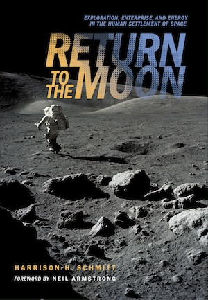 In  Return to the Moon  former NASA Astronaut Harrison Schmitt advocates a private, investor-based approach to returning humans to the Moon—to extract Helium 3 for energy production, to use the Moon as a platform for science and manufacturing, and to establish permanent human colonies there in a kind of stepping stone community on the way to deeper space.    Buy from Amazon
