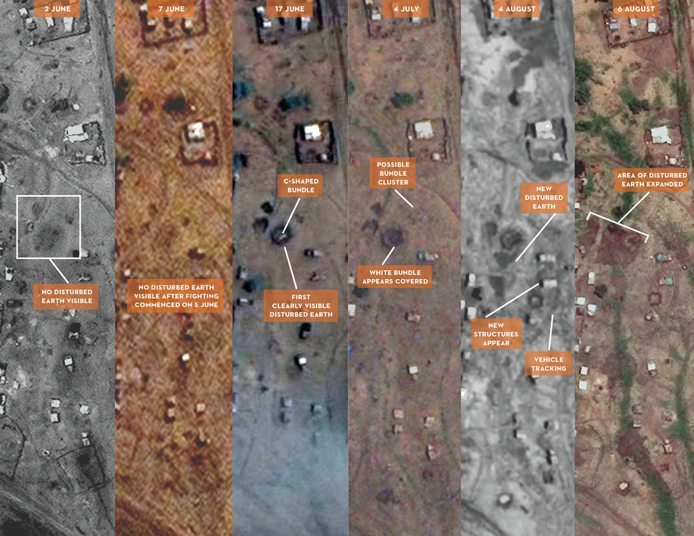 An example of the Satellite Sentinel Project's use of space imagery to document destruction in South Sudan.  Source:  Satellite Sentinel Project