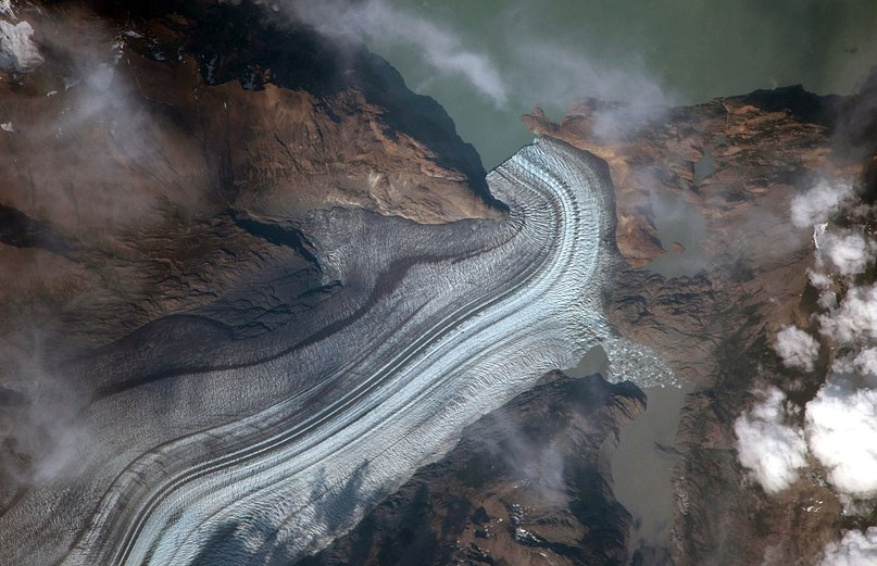 Students from Evergreen Middle School requested this image of Viedma Glacier for their investigation. Credit: NASA