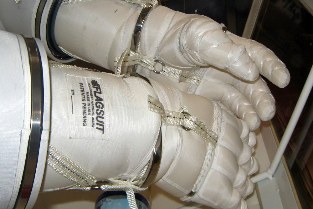 Peter Homer designed these space gloves at his dining room table. After winning the Astronaut Glove Challenge twice, he turned Flagsuit LLC into a Nasa contractor.  Credit:  Flagsuit LLC via Nasa