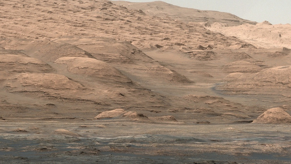 Room with a view? The 100 people selected by Mars One may have a shot at exploring Mars. This is a view of Aeolis Mons (what Nasa renamed Mount Sharp) taken by the Curiosity rover  Credit:  Nasa/JPL-Caltech