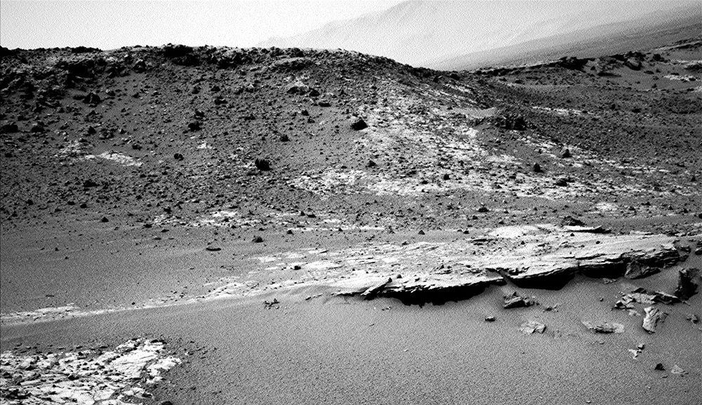 A recent image from Mars. Nasa's Mars Science Laboratory Curiosity took this picture last week. Credit: Nasa/JPL-Caltech
