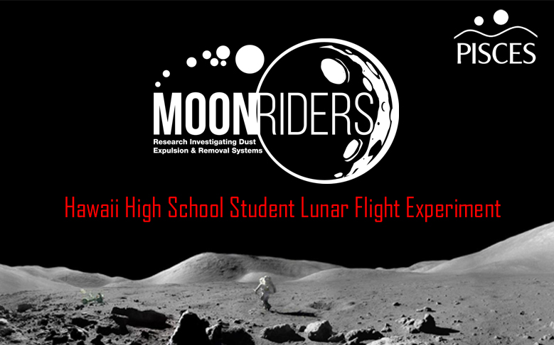 The Moonrider project will send Hawaiian high school students' research to the Moon.  Source: Pisces
