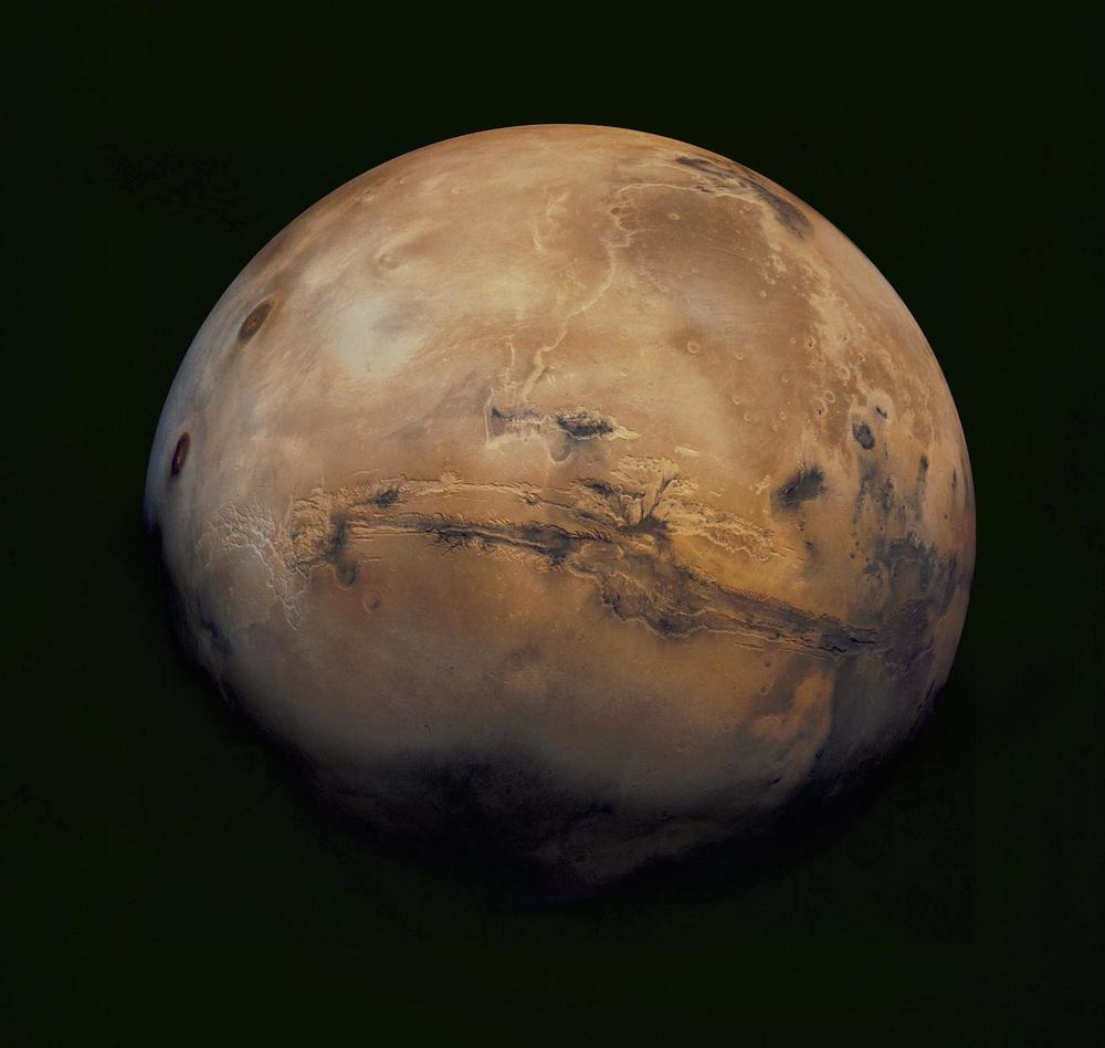 Mosaic of Mars from Viking Orbiter 1  Credit:  Nasa/USGS