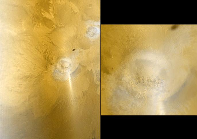 Arsia Mons from Mars Odyssey