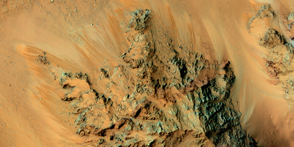 Recurring slope linea as seen in this image from the Mars Reconnaissance Orbiter's HiRise camera form during the summer months. Liquid brines beneath the surface may be one explanation. Credit: Nasa/JPL-Caltech/University of Arizona