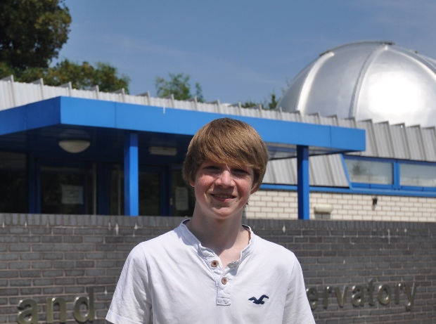 """I'm hugely excited to have a found a new planet, and I'm very impressed that we can find them so far away,"" said Tom Wagg. Now 17, he plans to continue studying exoplanets in university.  Credit:  Keele University"