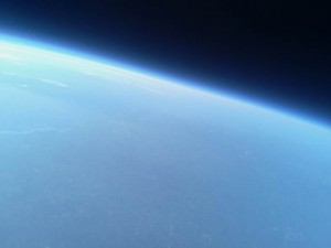 A stratospheric view of North Carolina captured by first-year students at High Point University. Credit:  High Point University