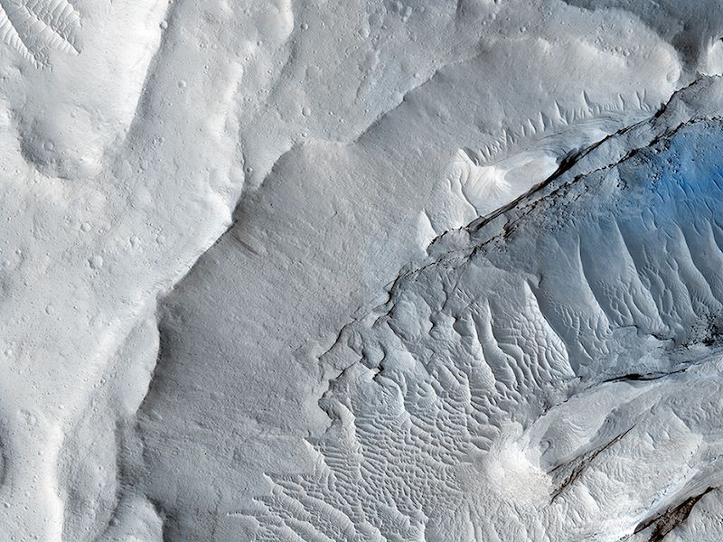 Pictures like this help scientists build the case for ancient river deltas on Mars.  Credit:  Nasa/JPL-Caltech/University of Arizona