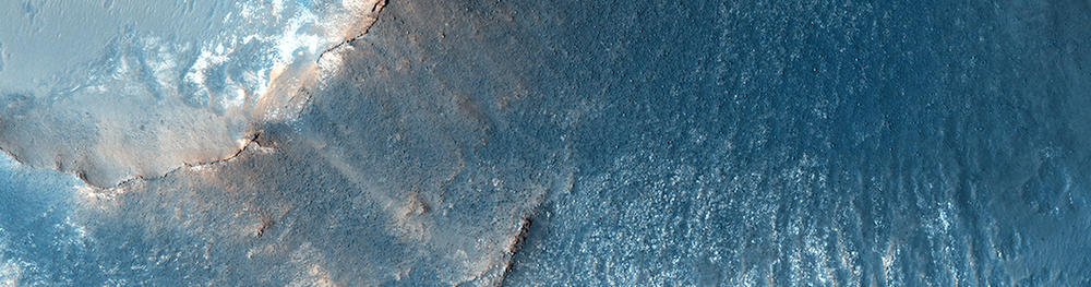 Martian mesas probably formed as wind eroded the surrounding softer material. This is a detail from a larger infrared image captured by Nasa's Mars Reconnaissance Orbiter  Credit:  Nasa/JPL-Caltech/University of Arizona