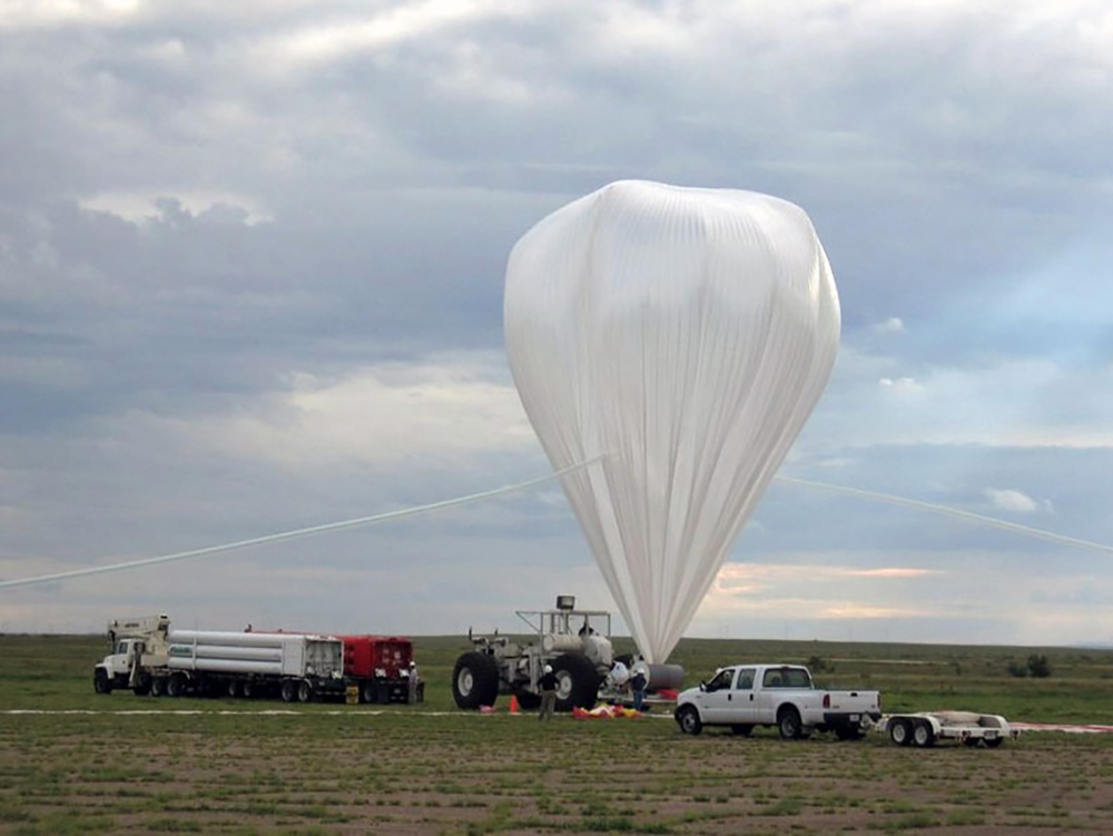 Undergraduate and graduate research projects can fly with the High Altitude Student Payload program. The 15-20 hour balloon flights carry much heavier experiments than a typical weather balloon project.  Credit:  Nasa