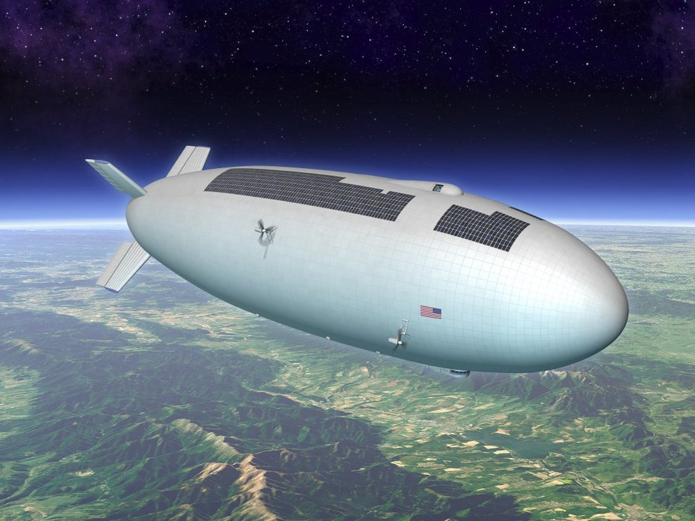 Artist's concept of a high-altitude airship. Credit: Nasa/STMD