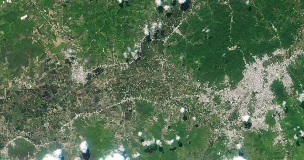 An orbital view of Ecuador lets citizen scientists map earthquake damage.  Credit:  Planet Labs