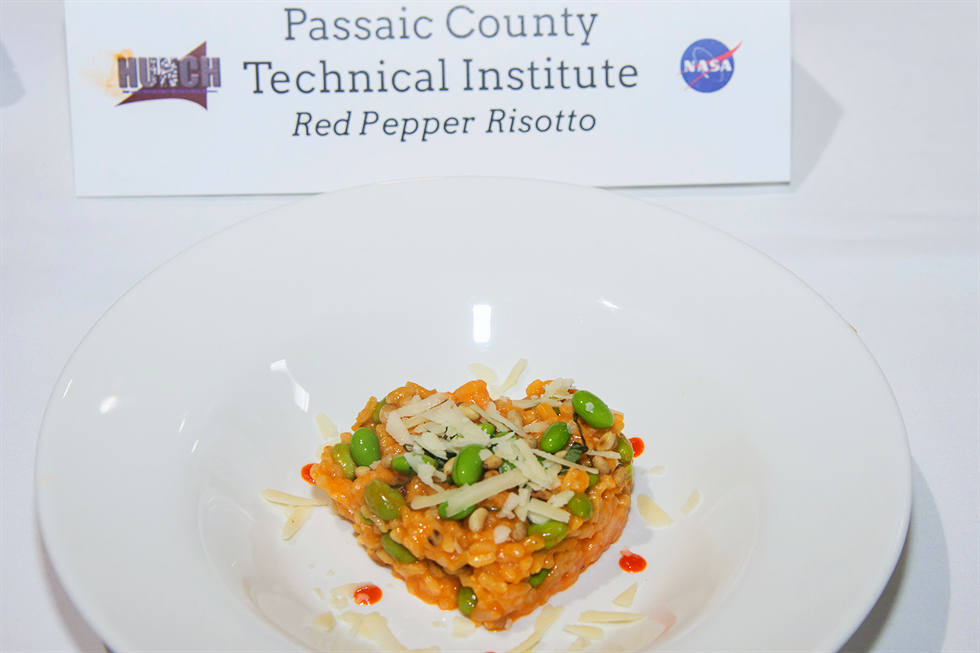 Astronauts on the International Space Station will enjoy this student-designed red pepper risotto next year.  Credit:  Nasa/David Dehoyos