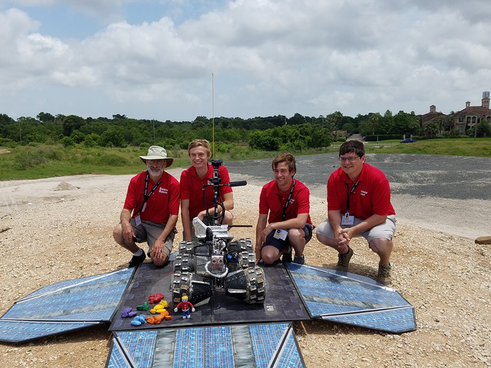 The onsite team could not touch Rovie McRoverface during the contest. All commands had to come telerobotically from the University of Oklahoma.  Credit:  National Institute of Aerospace