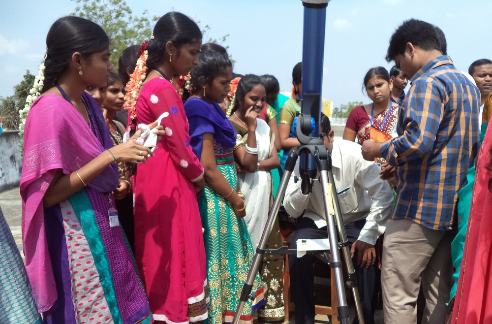 Solar astronomy outreach in India