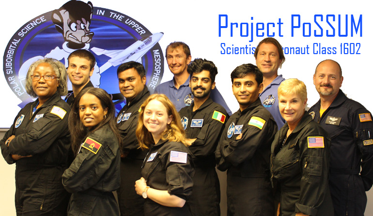 Citizen-astronauts from around the world completed their training with Project Possum. When suborbital vehicles start flying, these are among the people who will conduct research from the edge of space. Credit: Project Possum