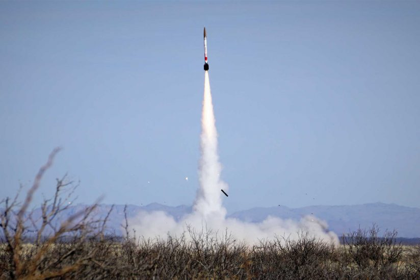 The University of Southern California's undergraduate rocket team set an altitude record for student-built rockets. Their next step is to launch a rocket across the boundary of Outer Space.  Credit: Megan Frisk