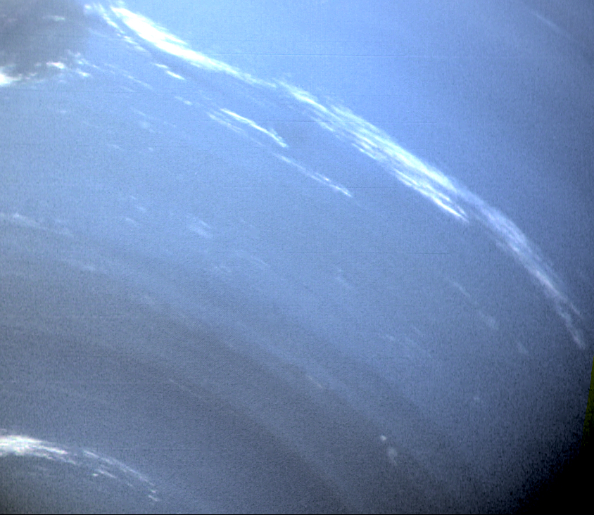 OK, I cheated here. Amateur telescopes can't get closeups like this one from Nasa's Voyager spacecraft. But competition for time on professional observatories is so fierce that planetary scientists can't catch fleeting features like Neptune's storms.  Credit: Nasa / JPL-Caltech